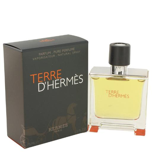 3 Pack Terre D'Hermes by Hermes Pure Pefume Spray 2.5 oz for Men Hermes Terre D'Hermes harkens to the scent of a natural man living in splendor. This elegant fragrance debuted on the market in 2006 and quickly defined itself as a leading industry standard. We are pleased to sell Hermes Terre d'Hermes products, including Terre d'Hermes cologne.