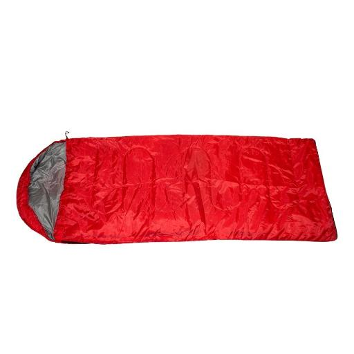 2 Moda 0.7Kg Lightweight Hooded Sleeping Bags - Red(Pack Of 10)