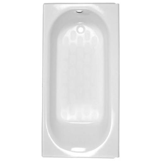 American Standard 2391202ICH.020 PrincetonAmericast Bath Tub with Integral Chrome Tub Drain and Right Hand Outlet - White