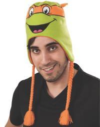 Michelangelo Teenage Mutant Ninja Turtles Laplander Hat TMNT Orange Mikey