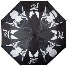 Marvel Venom Liquid Reactive Tongue Compact Umbrella With Travel Case