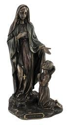 Our Lady of Lourdes Blessed Virgin Mary Bronzed Statue