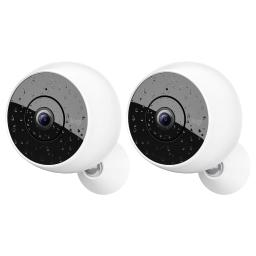 2 Pack Logitech Circle 2 Indoor/Outdoor 1080p Night Vision Wireless Home Security Camera