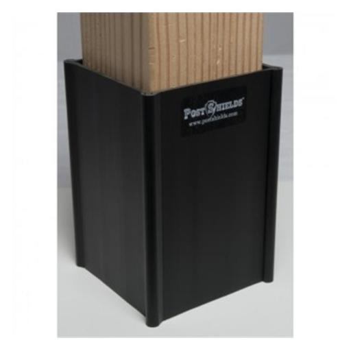 Post Shields 852809007038 Protects Mailbox & Fence Posts From Grass Trimmer Damage Black - 4 x 4 x 6 in.