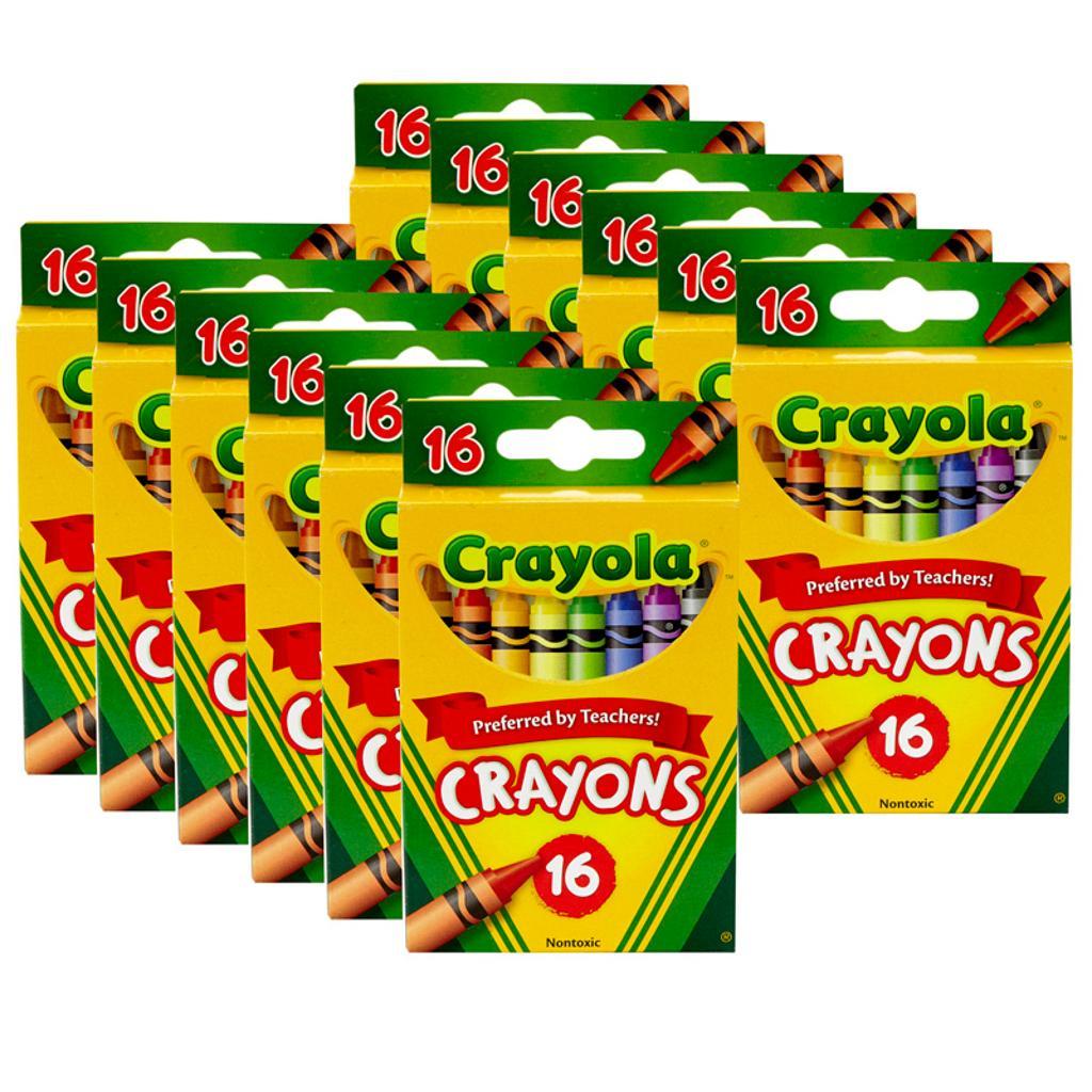 Crayola llc 12 bx crayola reg size crayons 16bn
