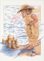 """Sandcastle Dreams Counted Cross Stitch Kit-11""""X14"""" 14 Count 13730"""