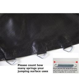 Bazoongi BED1056-5.5 10 ft. Jumping Surface for Trampoline with 56 V-Rings & 5.5 in. Springs