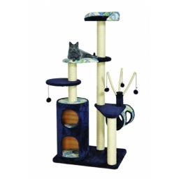 Midwest Feline Nuvo Playhouse Cat Furniture 35X25X62 Inch Navy 139P-BL