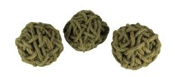 6 Inch Diameter Cole Twine Decorative Rope Balls Set of 3