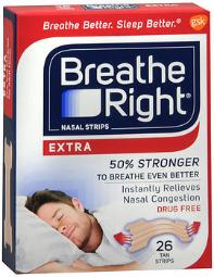 Breathe Right Nasal Strips Extra - 26 Ct, Pack Of 4