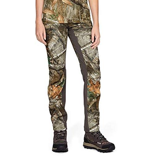 Under Armour Women's Fletching Pants, Realtree Edge, Beige, Size 6