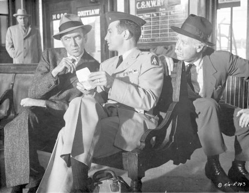 Anatomy Of A Murder Three Men Talking While sitting Outside the Station in Movie Scene in Black and White Photo Print