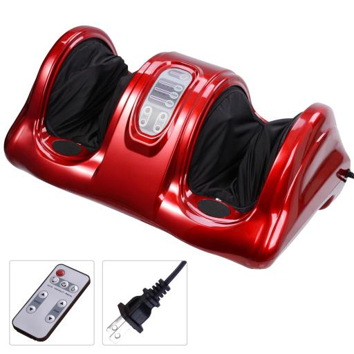 Shiatsu Foot Massager Kneading Rolling Leg Calf w/ Remote Control Personal Home Health Care Tool Red
