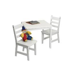 Lipper 514w child's table chair set white