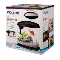 Aqueon 100528850 white aqueon minibow led aquarium kit 2.5 gallon white 11.5 x 7.63 x 12.5