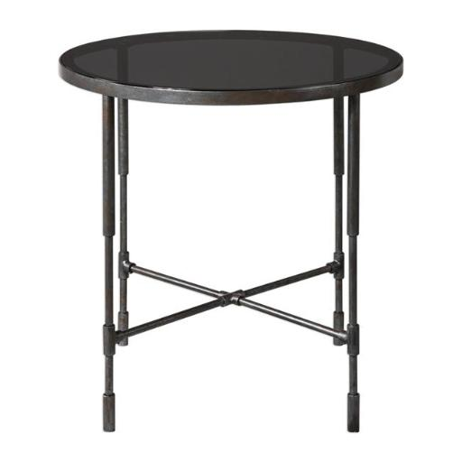 Uttermost 24783 Vande Aged Steel Accent Table