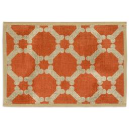 Buddys Line 5400-15 13 x 19 in. Natural Jute Placemats, Orange