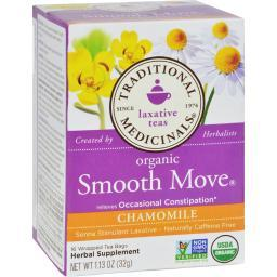 Traditional Medicinals Organic Smooth Move Chamomile Herbal Tea - 16 Tea Bags - Case of 6