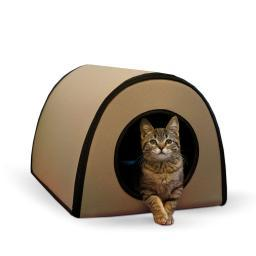 K&H Pet Products 5121 Tan K&H Pet Products Mod Thermo-Kitty Shelter Tan 15 X 21.5 X 13