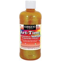 Washable Art-Time(R) Glitter Tempera Paint 16oz Yellow