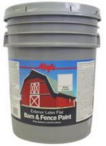 Majic8-0046-5 Latex Barn & Fence Paint, 5 Gallon, White