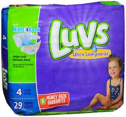 Luvs Ultra Leakguards Diapers Size 4 - 4 pack of 29, Pack of 2
