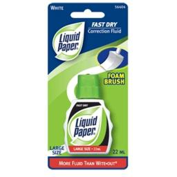 Liquid Paper Fast Dry White 22ml Fast Dry 5640415 Pack Of 12