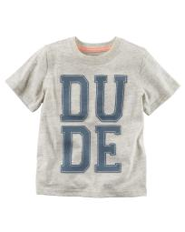 Carter's Baby Boys' Dude Graphic Tee, 9 Months