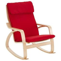 Early Childhood Resources ELR-15502-RD Bentwood Adult Rocking Chair - Red