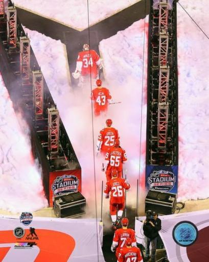 Detroit Red Wings Team Introduction 2016 NHL Stadium Series Photo Print