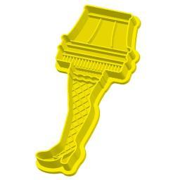 A Christmas Story Leg Lamp Cookie Cutter Xmas Movie Baking Major Award Yellow
