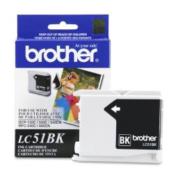 Brother International Corporat Lc51Bk Ink Cartridge - Black - 500 Pages At 5% Coverage - For Mfc-240C