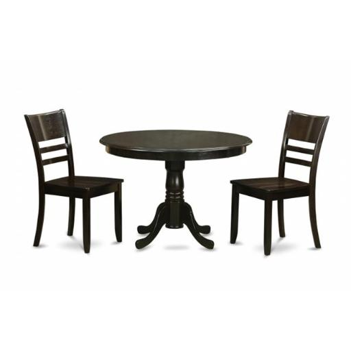 3 Piece Small Kitchen Table and Chairs Set-Kitchen Table and 2 Kitchen Chairs