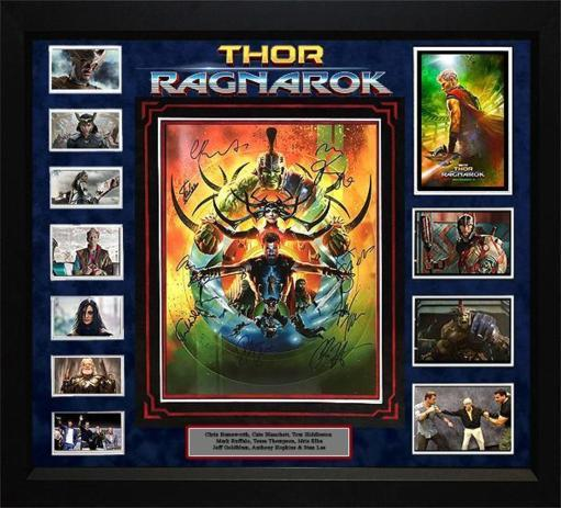 Thor Ragnarok - Cast Signed Movie Photo - Framed Artist Series MAO41MBKJ7EZUP0B