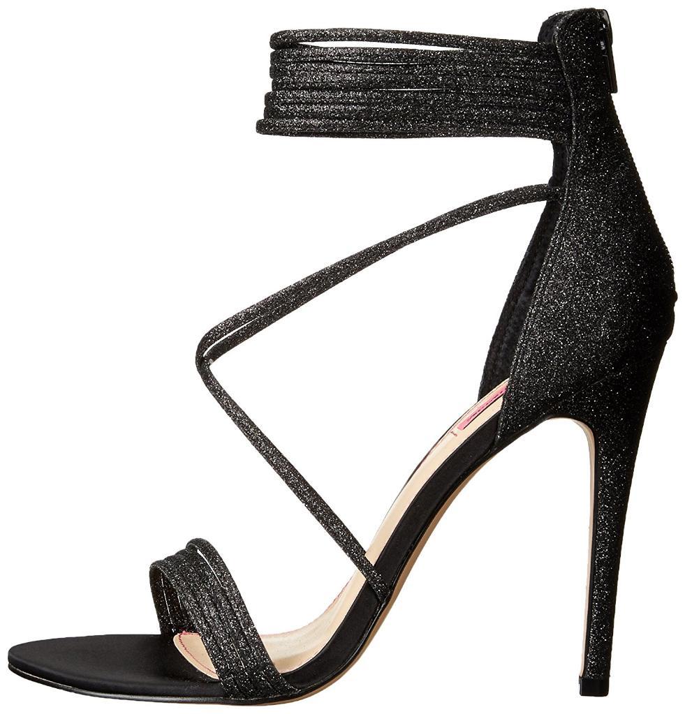 Betsey Johnson Womens Kora Open Toe Ankle Wrap D-orsay Pumps