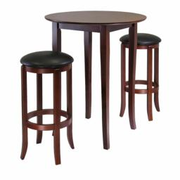 Winsome 94381 Fiona Round 3 Pieces High- Pub Table Set