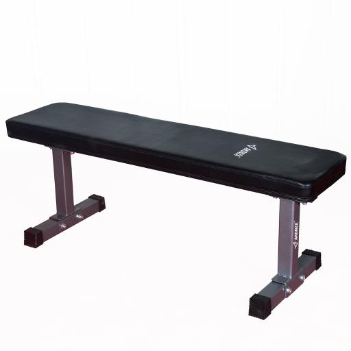 AKONZA Deluxe Flat Bench 1000 lb Weight Training Workout Gym Equipment