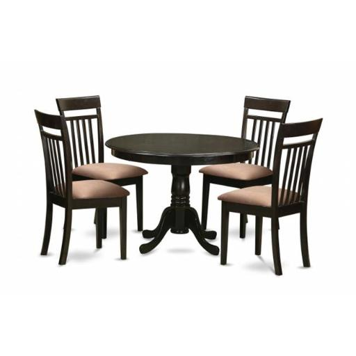 East West Furniture ANCA5-CAP-C 5 Piece Kitchen Table-Kitchen Dining Nook Plus 4 Dining Chairs