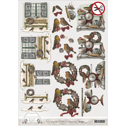 Find It Trading Amy Design Punchout Sheet Brocante Christmas