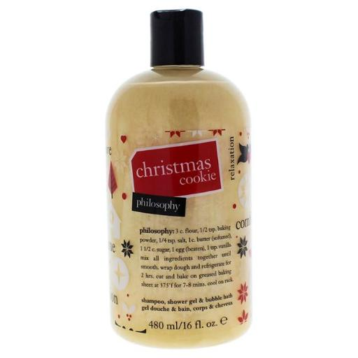 Philosophy Christmas Cookie By Philosophy For Women - 16 Oz Shampoo Shower Gel And Bubble Bath