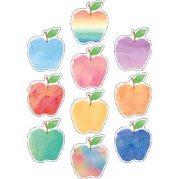 Teacher created resources watercolor apples accents 5611