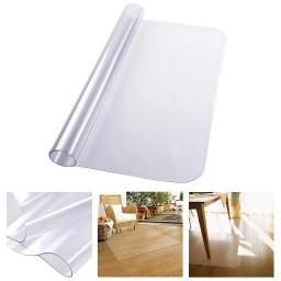 "YesHom 48"" x 36"" Clear Rectangle PVC Floor Mat Protector 1.5mm Thickness for Hard Wood Floor Home Office Desk Chair"