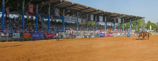 View of Arcadia All-Florida Championship Rodeo, Arcadia, DeSoto County, Florida, USA Poster Print by Panoramic Images