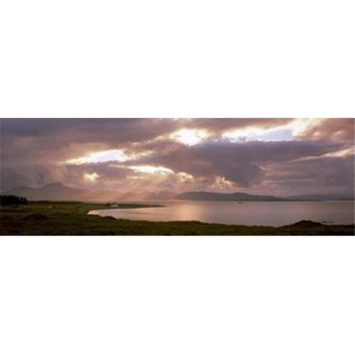 Panoramic Images PPI136549L The Cuillins hills and Scalpay from across Broadford Bay Isle of Skye Scotland Poster Print by Panoramic Images - 36 x 1