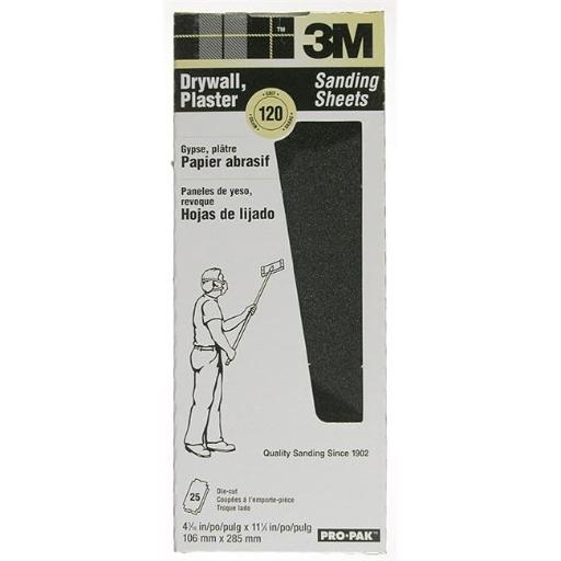 3m 150C Grit Pro-Pak Drywall Sanding Sheets 99431NA - Pack of 25