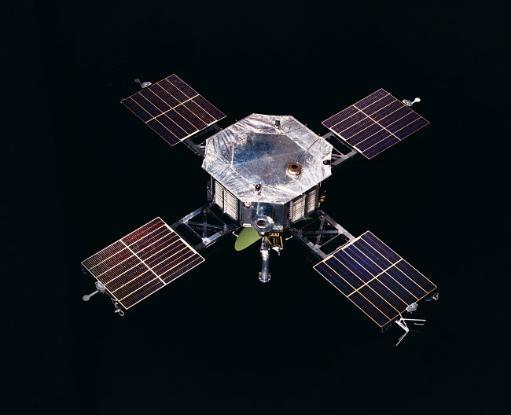 The Mariner 5 spacecraft against a black background Poster Print by Stocktrek Images
