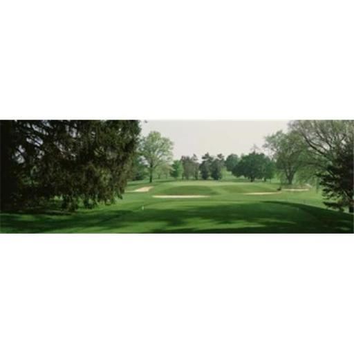 Panoramic Images PPI68390L Sand trap at a golf course Baltimore Country Club Maryland USA Poster Print by Panoramic Images - 36 x 12