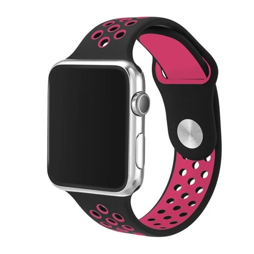Lizatech Series X Silicone Sport Band for Apple Watch Personalize your Apple Watch with this refined replacement wrist band. Comparable to original Apple Sport Band. This Band locks onto the Apple Watch Band Interface precisely and securely. Easy and direct installation and one button removal! The LizatechSeries X Silicone Sport Band for Apple Watch also offers an innovative pin-and-tuck closure ensures a clean fit. Made of soft silicone with ventilation holes for comfort, this band is durable and stylish. .The LizatechSeries X Silicone Sport Band for Apple Watch fits 6.38 -7.95  wrist and is 0.83  in width. .Available in 38mm & 42mm for all Apple Watch models.