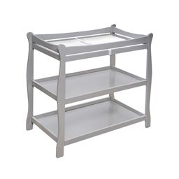 Badger Basket Co Sleigh Style Changing Table - Gray