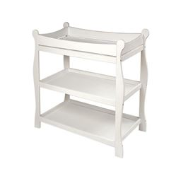 Badger Basket Co White Sleigh Style Changing Table